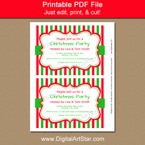 Digital Xmas Invitation Template