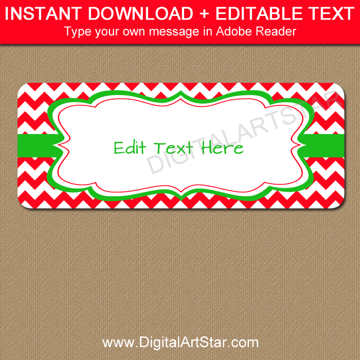 Easy Christmas Address Labels