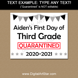 Editable Back to School Sign for 3rd Grade