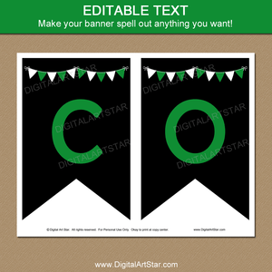 Editable Banner Template Graduation Party Decorations