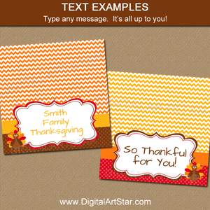 Thanksgiving Bag Toppers Editable Template