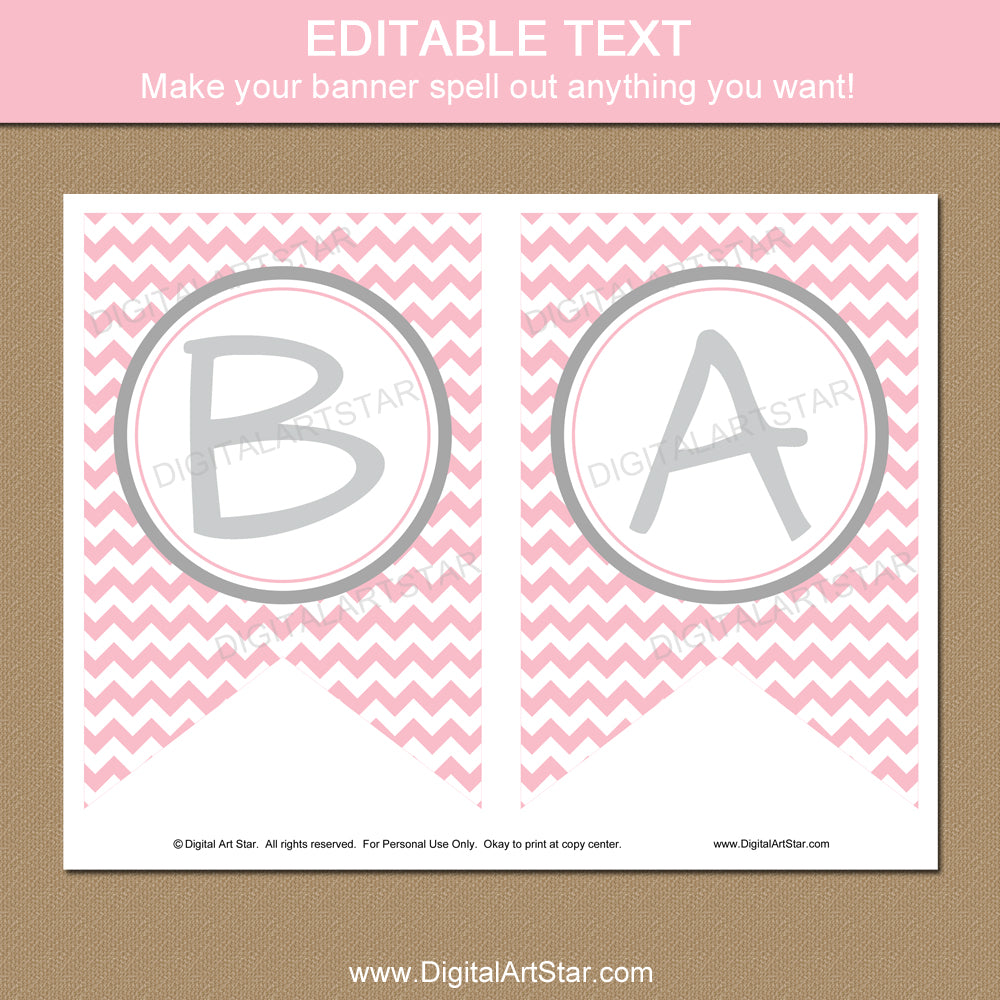 Editable Baby Shower Banner - Type Any Text