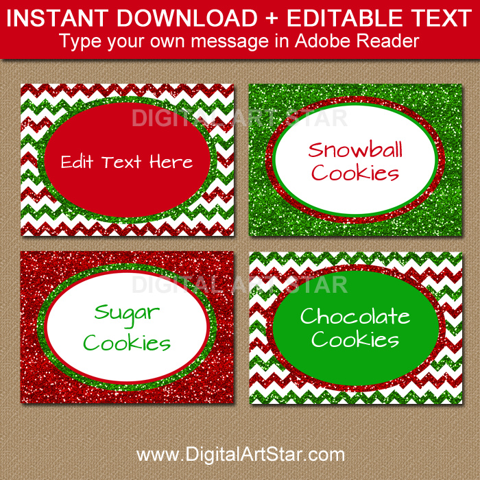 photo relating to Christmas Labels Printable identify Printable Xmas Labels - Pink and Environmentally friendly Glitter Labels