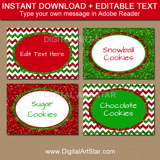 Editable Christmas Labels