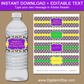 Printable Mardi Gras Water Bottle Labels
