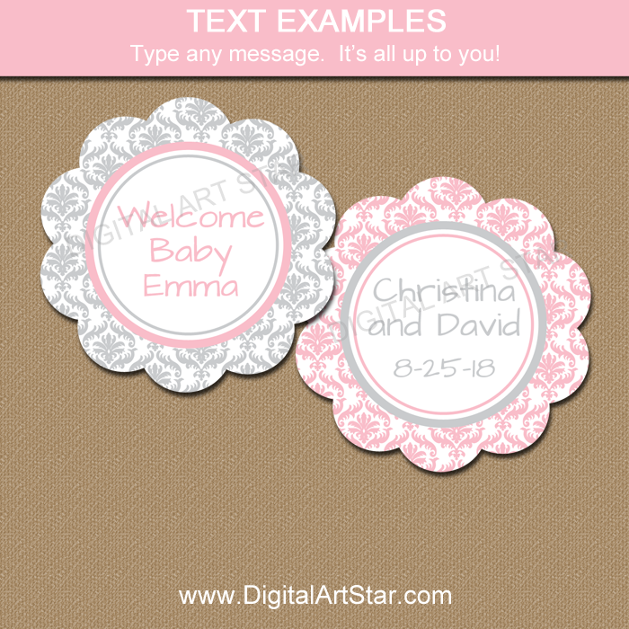 Editable Tags for Baby Shower, Wedding, Bridal Shower