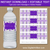 Purple and Silver Glitter Water Bottle Labels