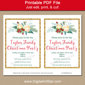 Elegant Holiday Party Invitation Download