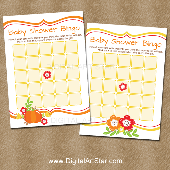 picture about Fall Bingo Printable known as Slide Child Shower Bingo Printable Video game