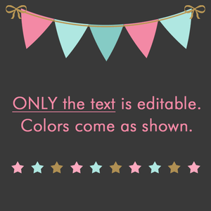 First Day of Third Grade Sign Editable Template