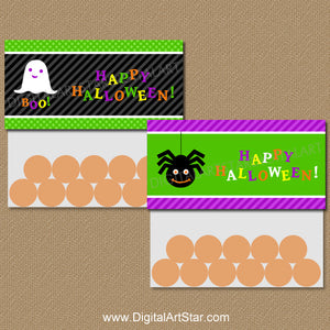 Printable Halloween Bag Toppers for Kids Party