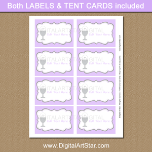 Girl First Holy Communion Label Template