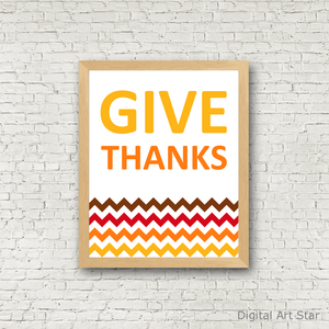 Give Thanks Wall Decor for Thanksgiving