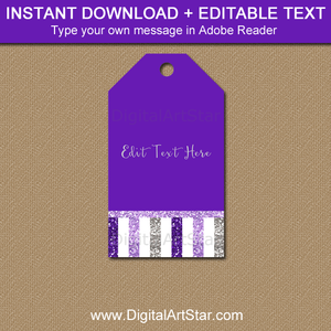 Instant Download Purple Gift Tags