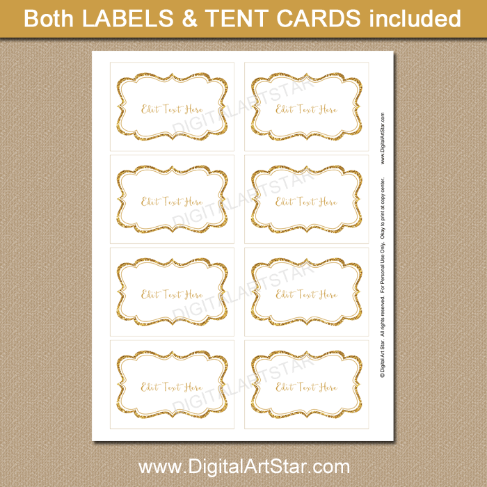 graphic about Gold Printable Labels identify Gold and White Xmas Printable Labels