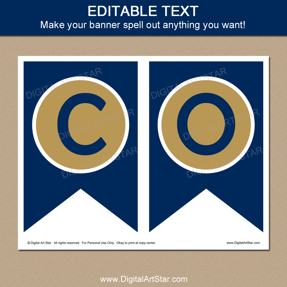 graduation banner printable in navy and gold digital art star