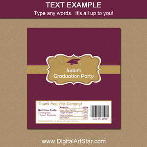 Wording Example for Graduation Chocolate Bar Wrappers