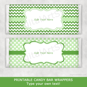 Green Chocolate Bar Wrapper Template