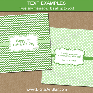 Candy Bar Wrappers for St Patricks Day, Birthday Party Favors, and More