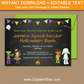 Chalkboard Halloween Invitation Printable for Costume Party