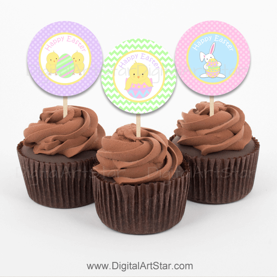 Easter Cupcake Picks