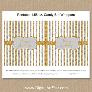 Printable Holiday Party Favors - Chocolate Bar Labels
