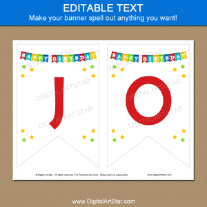 Editable Birthday Banner to Print