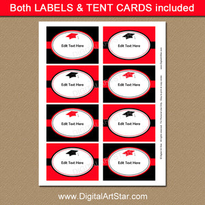 Printable Graduation Food Labels