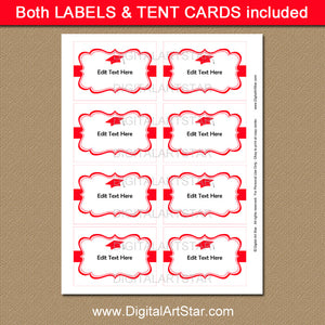 High School Graduation Label Printables