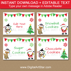 Instant Download Christmas Candy Buffet Labels