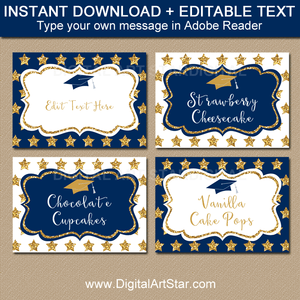 Instant Download Graduation Food Label Template