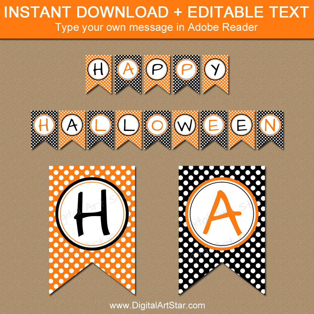 Instant Download Halloween Banner