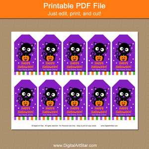 Kids Halloween Favor Tags Printable