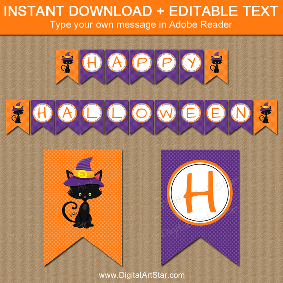 Instant Download Kids Halloween Banner