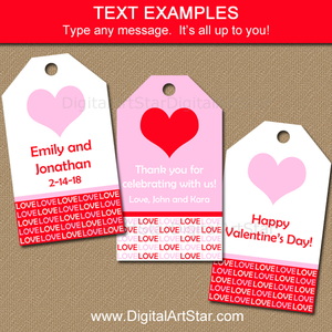 Printable Valentines Day Favor Tag Template
