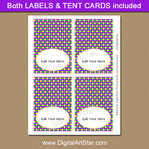 Printable Mardi Gras Place Cards Template