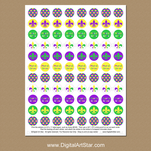 Mardi Gras Party Favor Idea - Candy Stickers