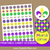 Printable Mardi Gras Candy Stickers