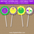 Mardi Gras Party Printables - Cupcake Toppers