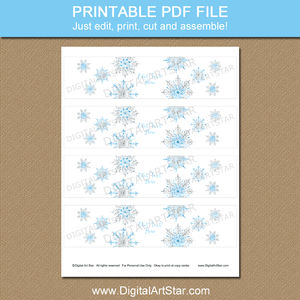 Printable Snowflake Party Decorations