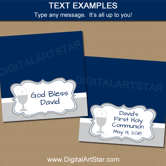 Bag Toppers Editable Template - Text Examples