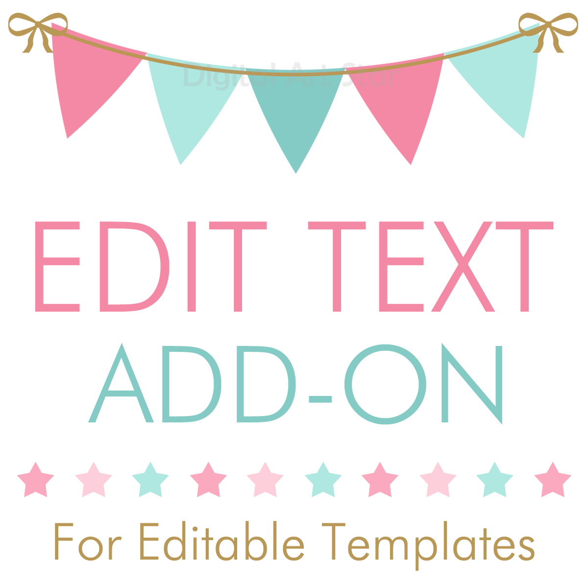 Personalize My Order - Edit Text Add-On for Editable Templates