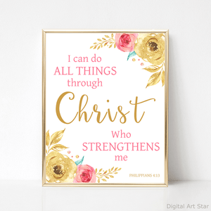 Pink and Gold Scripture Wall Decor
