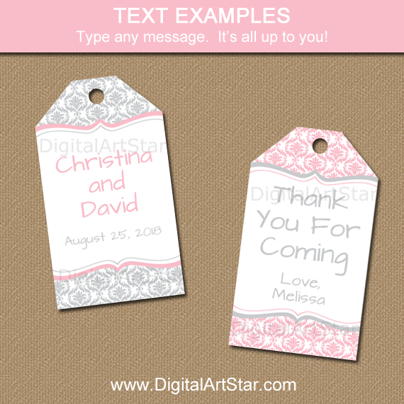 Editable Tags for Wedding, First Birthday, Baby Shower