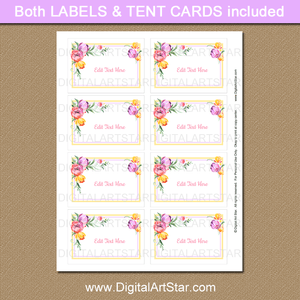 Printable Easter Food Labels Floral