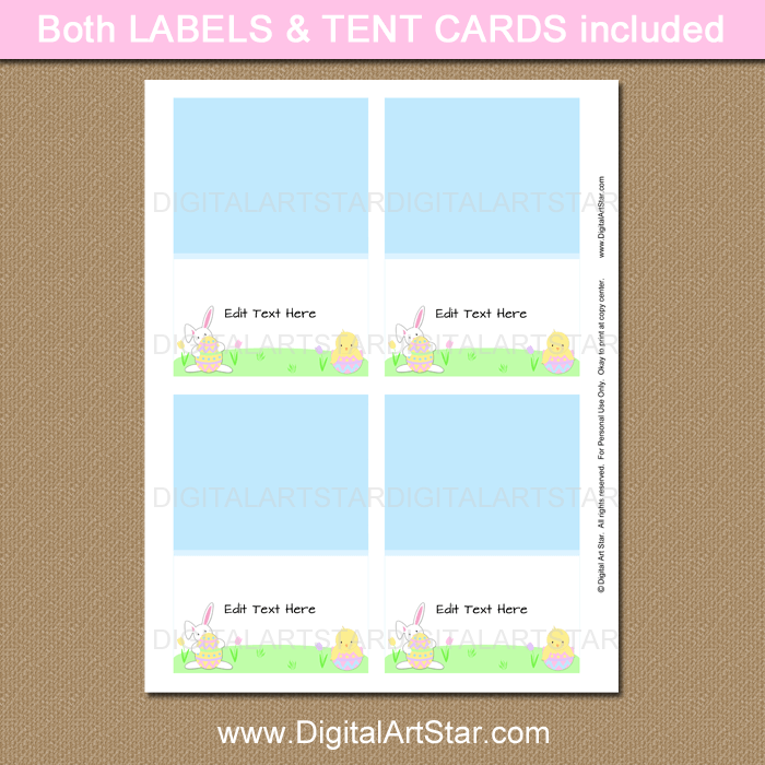 Editable Easter Table Place Cards