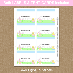 Printable Easter Table Name Cards