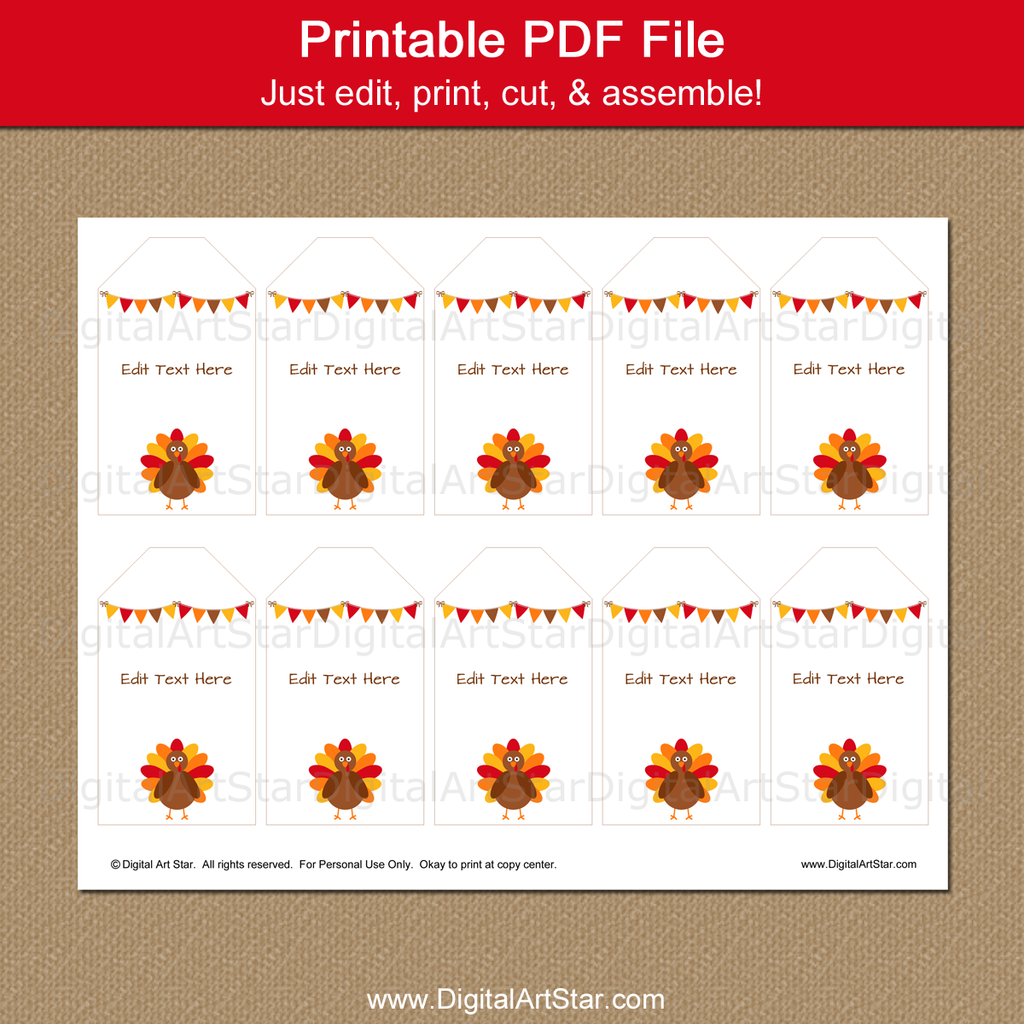 printable Thanksgiving thank you tags by Digital Art Star