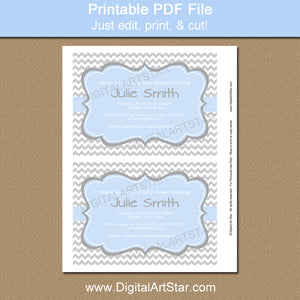 Printable Baby Boy Shower Invitation Template