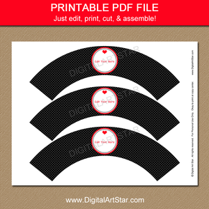 Printable Black and Red Valentine Party Idea